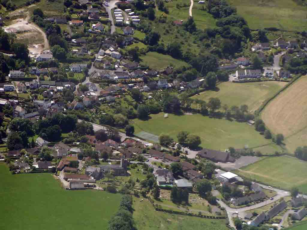 Aerial view of Uplyme - Joss Kent